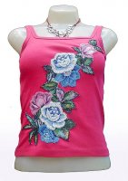 Bead Top ROSE BLEUE